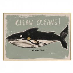 AFFICHE CLEANS OCEANS
