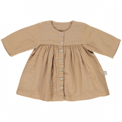 ROBE MADEMOISELLE MANCHES 3/4 INDIAN TAN - POUDRE ORGANIC