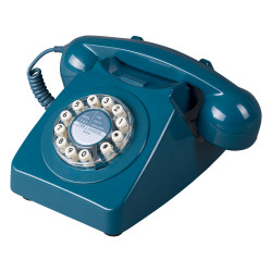 TELEPHONE VINTAGE BLEU