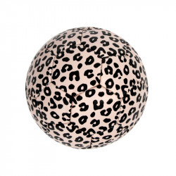 BALLON DE FOOTBALL ROSE PALE LEOPARD