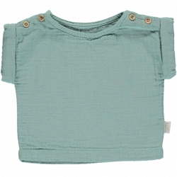 BLOUSE EN LIN BLUE SURF -...